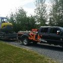 SLE Contracting truck and trailer